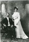 Wedding Portrait Photograph of George and Bessie Dunbar, circa 1900