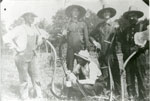 Dobb Men Holding Scythes on the Farm Fields, circa 1900