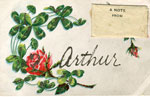 Hand Painted Postcard, 1908