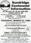 """Sundridge Centennial Information"", Flyer, 1989"