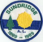 Sundridge Centennial Badge, 1889-1989