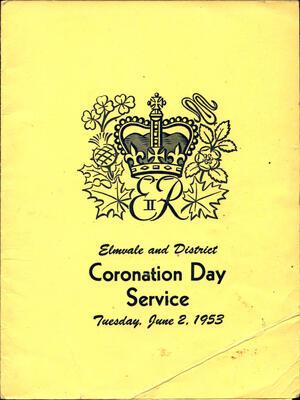 Coronation Day Service Agenda, 1953