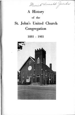 A History of the St. John's United Church Congregation 1881-1981