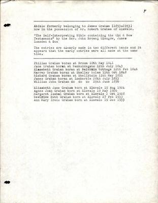 Graham Bible Inscription