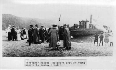 Schreiber Beach (~1900), Ibsters Landing