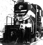 Val Lemieux and Myra Smilski by Engine 8407