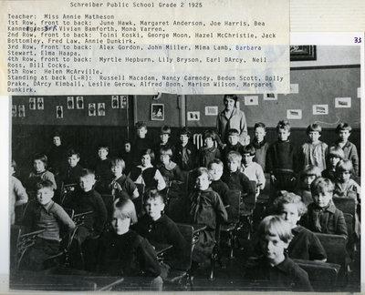 Schreiber Public School - Grade Two