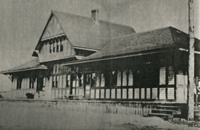 Post card of the 1st C.P.R. Station