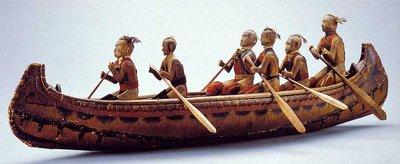 Model Canoe Representing Chief's Canoe in War of 1812