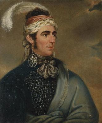 Portrait of Major John Norton as Mohawk Chief Teyoninhokarawen