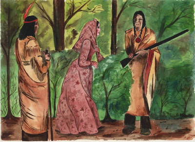 Laura Secord Intercepted By Indians On Her Way To Warn Fitzgibbon Of Impending U.S. Attack
