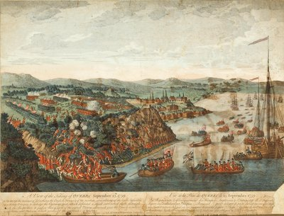 View of the capture of Québec, September 13, 1759