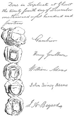 Signatures & Seals of British and American Negotiators of the Treaty of Ghent
