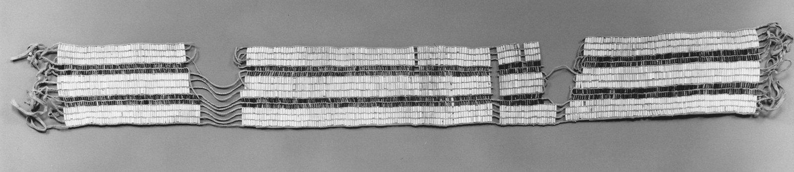 Two-Row Wampum Belt (Guswhenta or Kaswhenta)