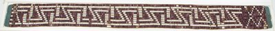 Photo of the Pledge of the Crown Belt (a.k.a.Claus Wampum Belt - War of 1812 Peace Wampum Belt)
