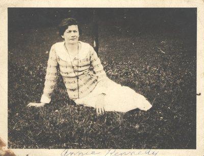 Margaret Ann Kennedy Sitting in Grass