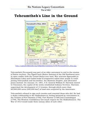 War of 1812 Series (12): Tehcumtheh's Line in the Ground
