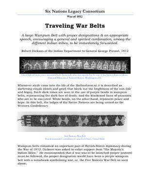 War of 1812 Series (18): Traveling War Belts