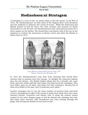 War of 1812 Series (28): Hodinohson:ni Stratagem