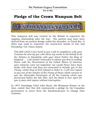 War of 1812 Series (33): Pledge of the Crown Wampum Belt