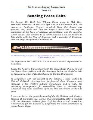 War of 1812 Series (49): Sending Peace Belts