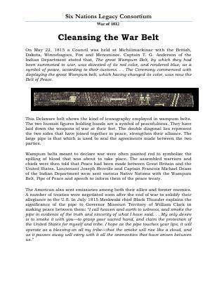 War of 1812 Series (50): Cleansing the War Belt