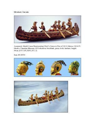 War of 1812 Series :1812 Assignack Canoe
