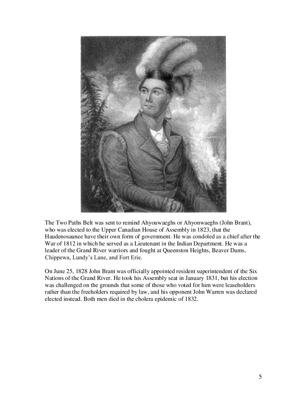 War of 1812 Series : Wampum Belts Associated with the War of 1812