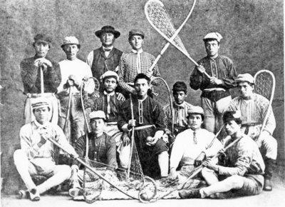 1867 Kahnawake Team Big John River Boat Captain with Side Burns