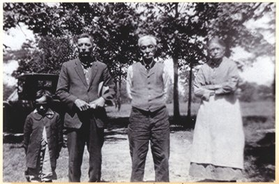 Samuel Anderson and his parents, John R. Anderson and Mary Anderson