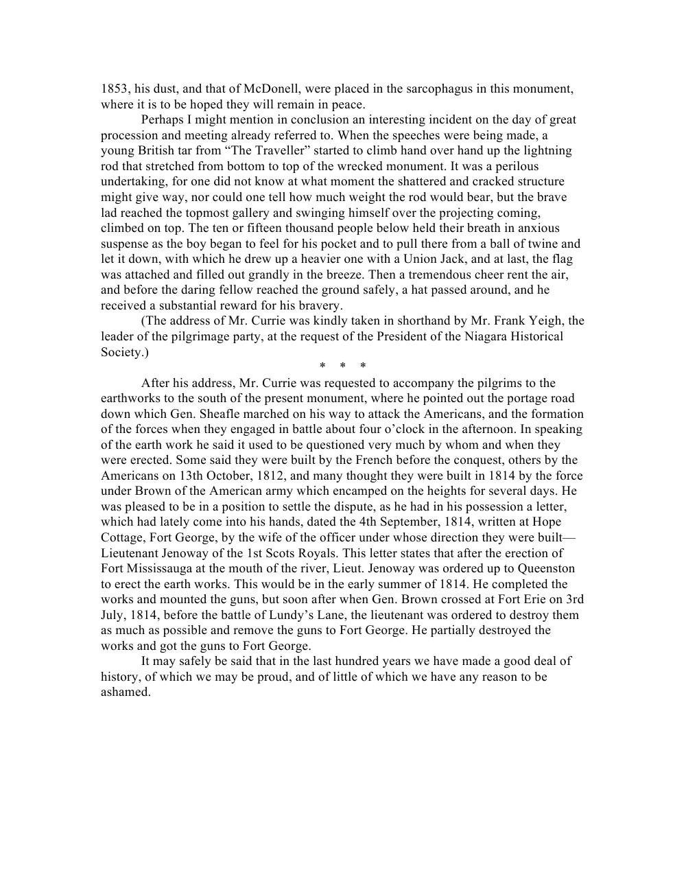 Niagara Historical Society Pamphlet -No. 4 -Memorials to United Empire Loyalists