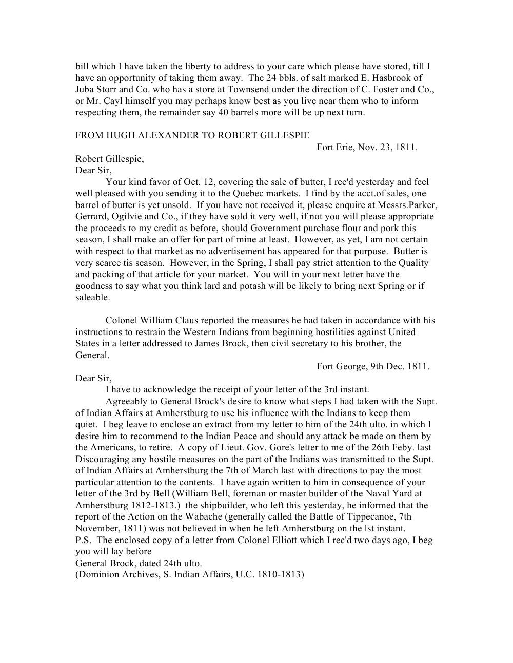 Niagara Historical Society Pamphlet -No.42 -Historic Niagara Documents -1805-1811