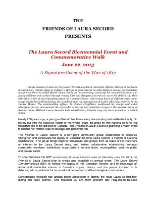 Laura Secord Bicentennial Event