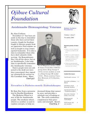 Anishinaabe Zhimaagnishag: Veterans