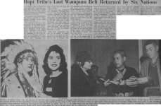 Hopi Tribe's Lost Wampum Belt Returned by Six Nations
