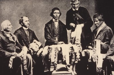 Reading of the Wampum - Six Nations c. 1860's