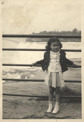 Kathy at Niagara Falls