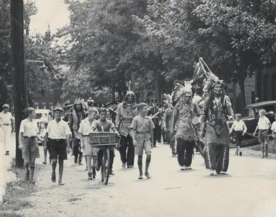 The Six Nations Marching Band in Dundas 1935