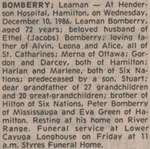 Bomberry, Leaman