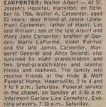 Carpenter, Walter Albert