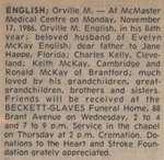 English, Orville M.