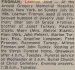 Froman, Leaman John