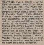 Montour, Irvin L. (Mutt)