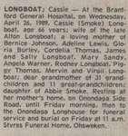 Longboat, Cassie