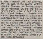 Staats, Shannon Lee