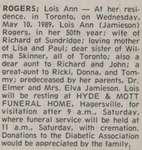 Rogers, Lois Ann