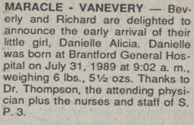 Maracle-VanEvery, Danielle Alicia
