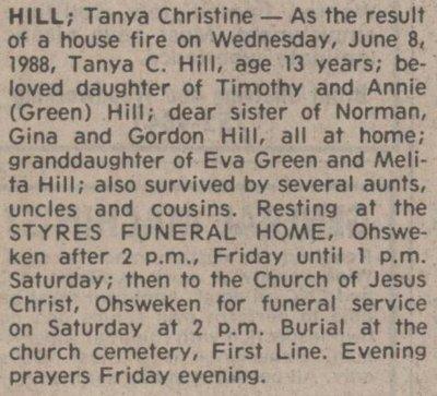 Hill, Tanya Christine