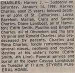 Charles, Harvey J.