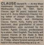 Clause, Gerald R.